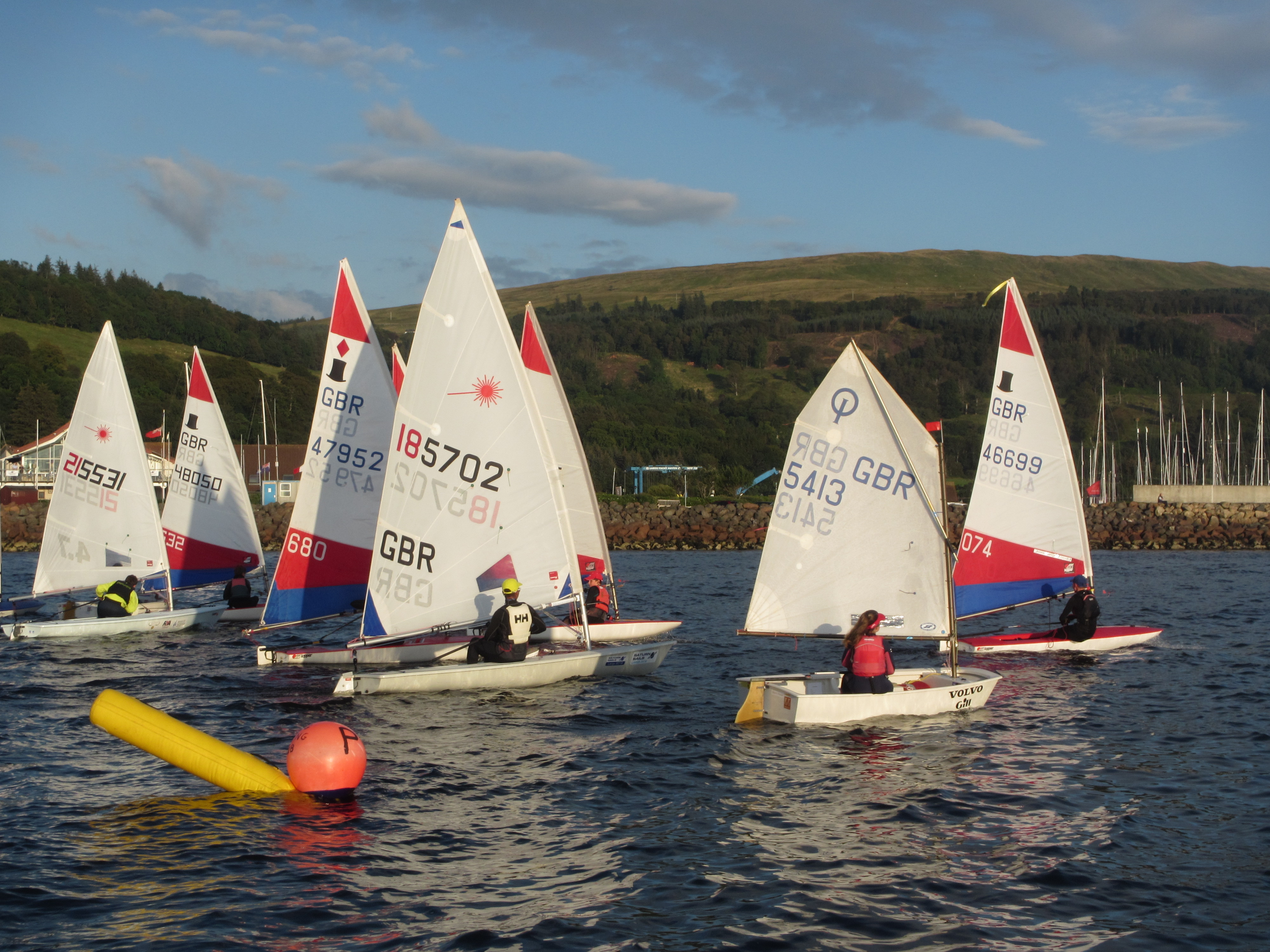 Toppers, Laser and Optimist at Largs SC