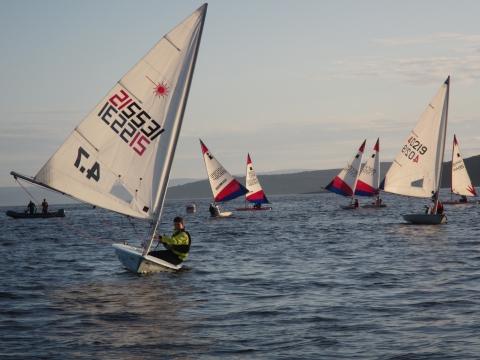 Boat Sailing Down Wind