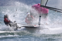 Catamaran in Spray Photo by Marc Turner
