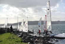 Fleet Launching for Race 1 of the series